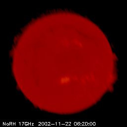 Sun in microwaves - loading live image - please be patient.